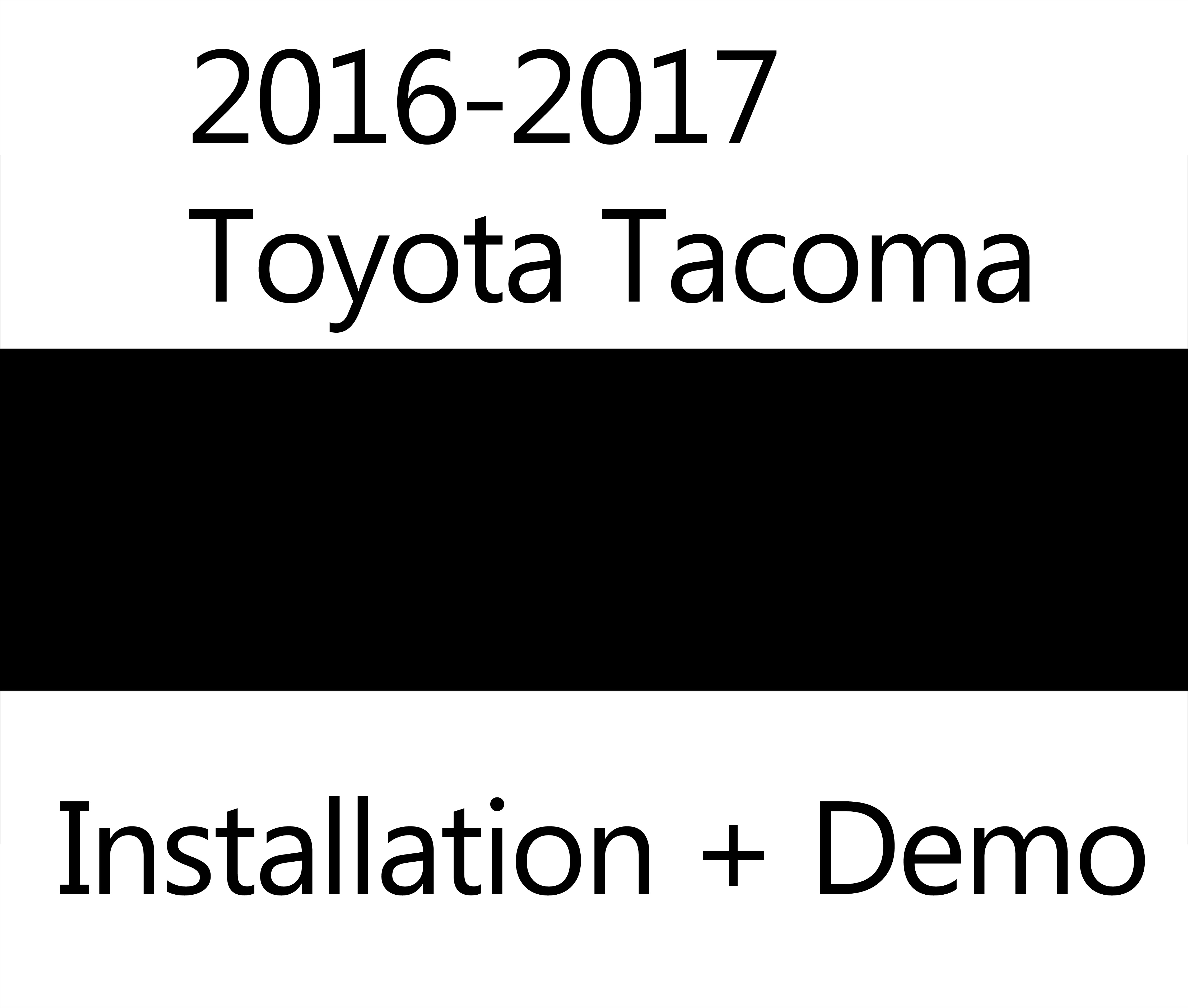 Toyota Tacoma 2015-2018 Service Manual: General Information